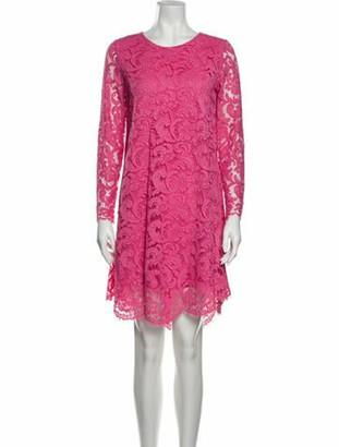 Adam Lippes Lace Pattern Mini Dress Pink