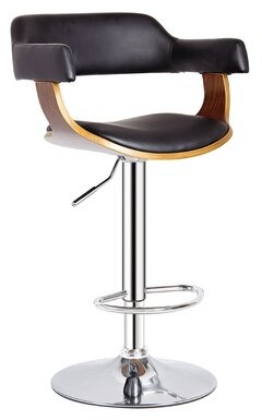 AC Pacific Adjustable Height Swivel Bar Stool AC Pacific Color: Gold