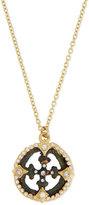 Armenta Sueño Open Cross Diamond Artifact Pendant Necklace