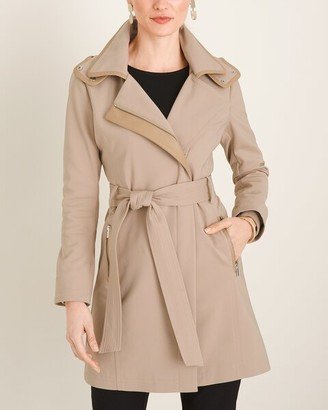 Chico's Soft Trim-Detail Trench Coat