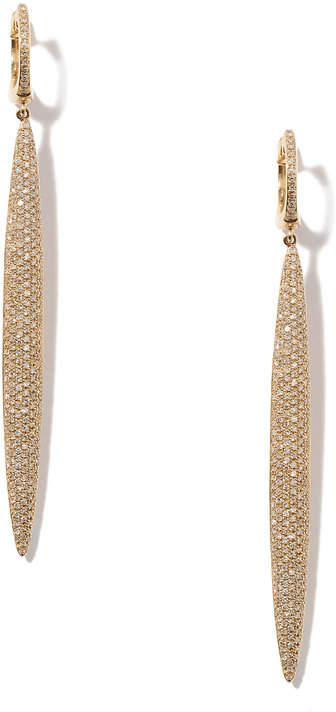 Anne Sisteron Long Stiletto Yellow-Gold Diamond Earrings