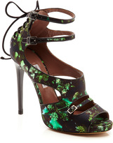 Tabitha Simmons Bailey Floral Printed Satin Sandals