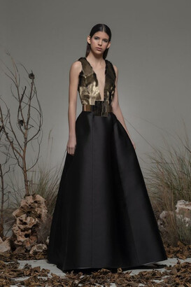 Isabel Sanchis Baucina Sleeveless A-Line Gown