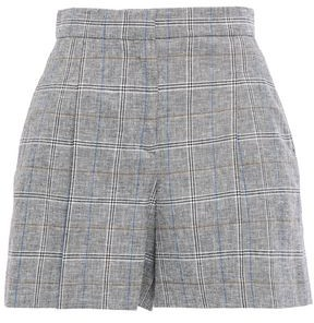 Sandro Liam Pleated Prince Of Wales Checked Jacquard Shorts