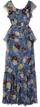 Carolina Herrera Julianna Ruffled Floral-print Silk-chiffon Gown