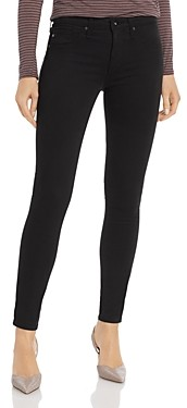 AG Jeans Legging Ankle Jeans in Black Stretch Sateen