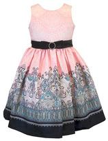 Jayne Copeland Pink Geometric A-Line Dress - Toddler & Girls