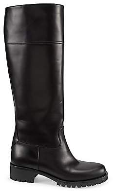 Prada Women's Tall Leather Riding Boots