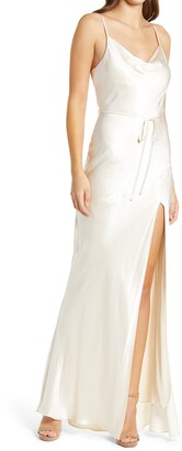 Shona Joy Cowl Neck Midi Slipdress