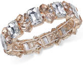 Charter Club Gold-Tone Clear & Pink Crystal Stretch Bracelet, Created for Macy's