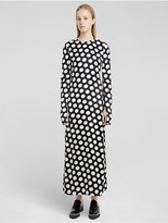 Calvin Klein Collection Macro Dot Print Sheath Dress