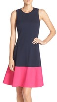 Eliza J Women's Colorblock Hem Fit & Flare Dress