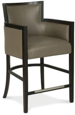 "Fairfield Chair Albany Bar & Counter Stool Fairfield Chair Body Fabric: 9953 Oyster, Frame Color: Rustic Portobello, Seat Height: Counter Stool (26"" Seat Height)"