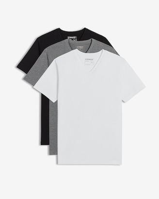 Express 3 Pack Slim Stretch V-Neck Neck T-Shirts