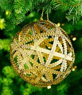 Southern Living Nostalgic Noel Collection Oversized Metal Ribbon Ball Ornament
