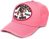 DSQUARED2 logo and tiger patch baseball cap