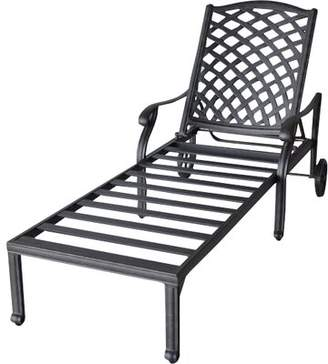 Darby Home Co Nola Reclining Chaise Lounge with Cushion Darby Home Co