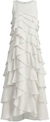 Gisy White Ruffle Wedding & Everafter Dress