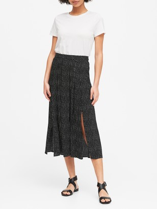 Banana Republic Petite Pleated Midi Skirt