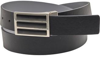 adidas Mens 3-Stripes Solid Reversible Golf Belt Black/Grey Three