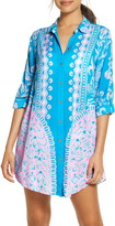 Lilly Pulitzer R) Natalie Cover-Up Shirtdress