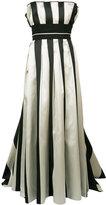 Carolina Herrera striped bustier ball gown - women - Silk/Polyester - 10