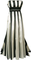 Carolina Herrera striped bustier ball gown - women - Silk/Polyester - 4