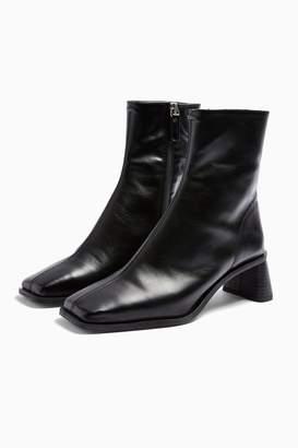 Topshop CONSIDERED VENICE Vegan Black Boots
