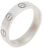 Cartier Vintage 18K White Gold Mini Love Band Ring