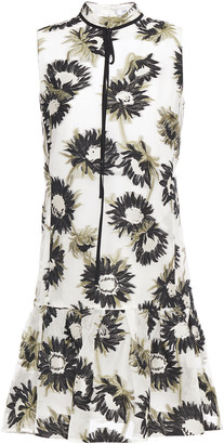 Erdem Fluted Fil Coupe Cotton-blend Organza Dress