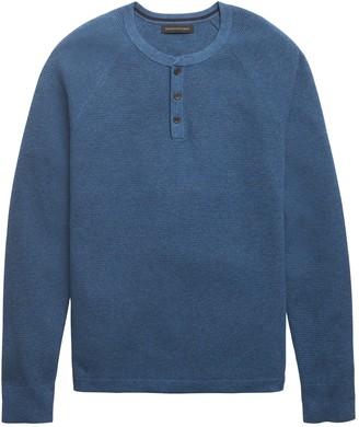 Banana Republic Organic Cotton Henley Sweater