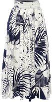 Marella WALK Printed midi cotton wrap skirt