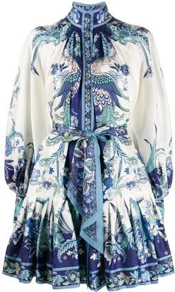 Zimmermann Glassy phoenix print silk dress