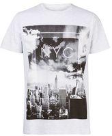 Burton Mens Frost Grey Monochrome NYC Print T-Shirt