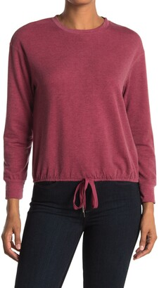 White Willow Draw String Bottom Pullover T-Shirt
