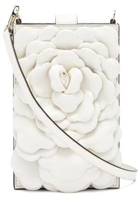 Valentino Atelier Mini Petal-effect Leather Bag - Ivory