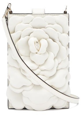 Valentino Atelier Petal-embellished Leather Crossbody Pouch - Ivory