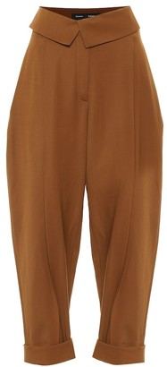 Proenza Schouler High-rise stretch-wool tapered pants