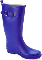 Navy Buckle-Accent Rain Boot