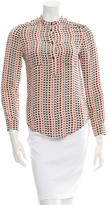Etoile Isabel Marant Printed Silk Button-Up