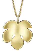Finn Large Fig Leaf Pendant - Yellow Gold
