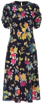 Etro Floral stretch-silk crepe midi dress