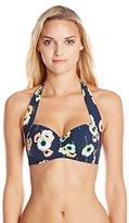 Seafolly Women's Cabana Rose Soft-Cup Halter Bikini Top