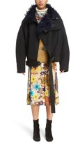 Acne Studios Women's Cees Coat With Genuine Shearling Trim