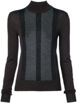Vera Wang striped detail slim-fit jumper