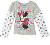 Children's Apparel Network Minnie Mouse 'Beautiful' Heart Layered Tee - Toddler