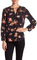 Joie Pearline Silk Long Sleeve Floral Printed Blouse