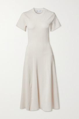 Proenza Schouler White Label Cutout Ribbed-knit Midi Dress - x small