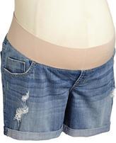 "Old Navy Maternity Demi-Panel Distressed Denim Shorts (5"")"