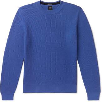 HUGO BOSS Textured Pima Cotton Sweater